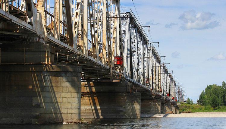 Река Туба, ЖД мост